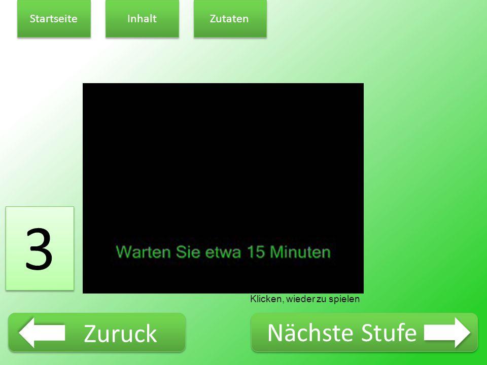 3 3 Klicken, wieder zu spielen Startseite Inhalt Zutaten Zuruck Nächste Stufe