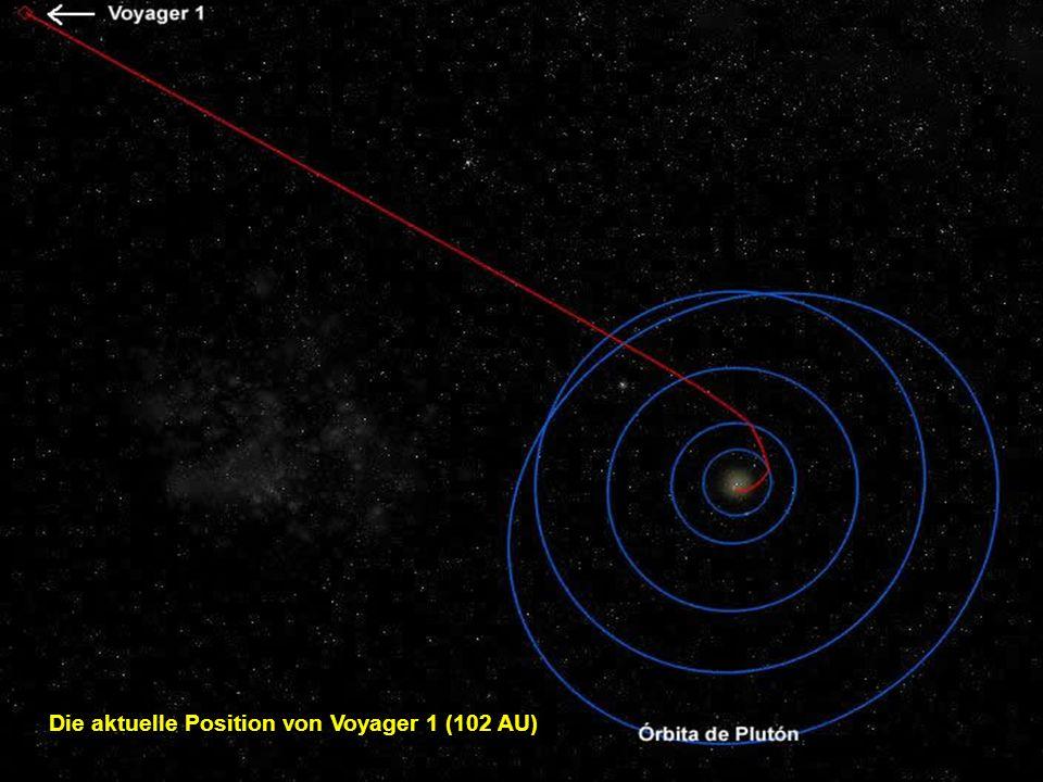 Voyager 1 : Dieser Satellit wurde 1977 in den Weltraum gesandt und befindet sich z. Zt. bereits über 16 Milliarden km von der Erde entfernt (und funkt
