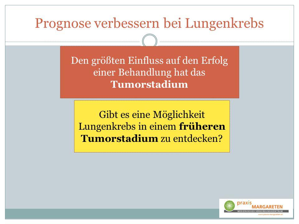 Prognose verbessern bei Lungenkrebs Gibt es eine Möglichkeit Lungenkrebs in einem früheren Tumorstadium zu entdecken? Den größten Einfluss auf den Erf