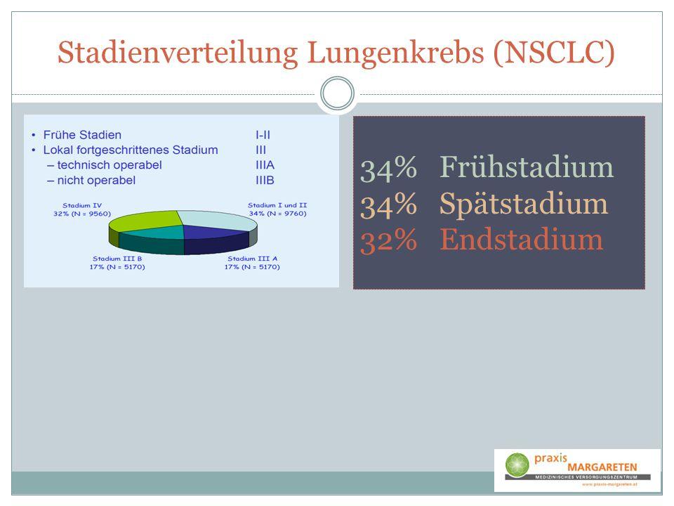 34% Frühstadium 34% Spätstadium 32% Endstadium