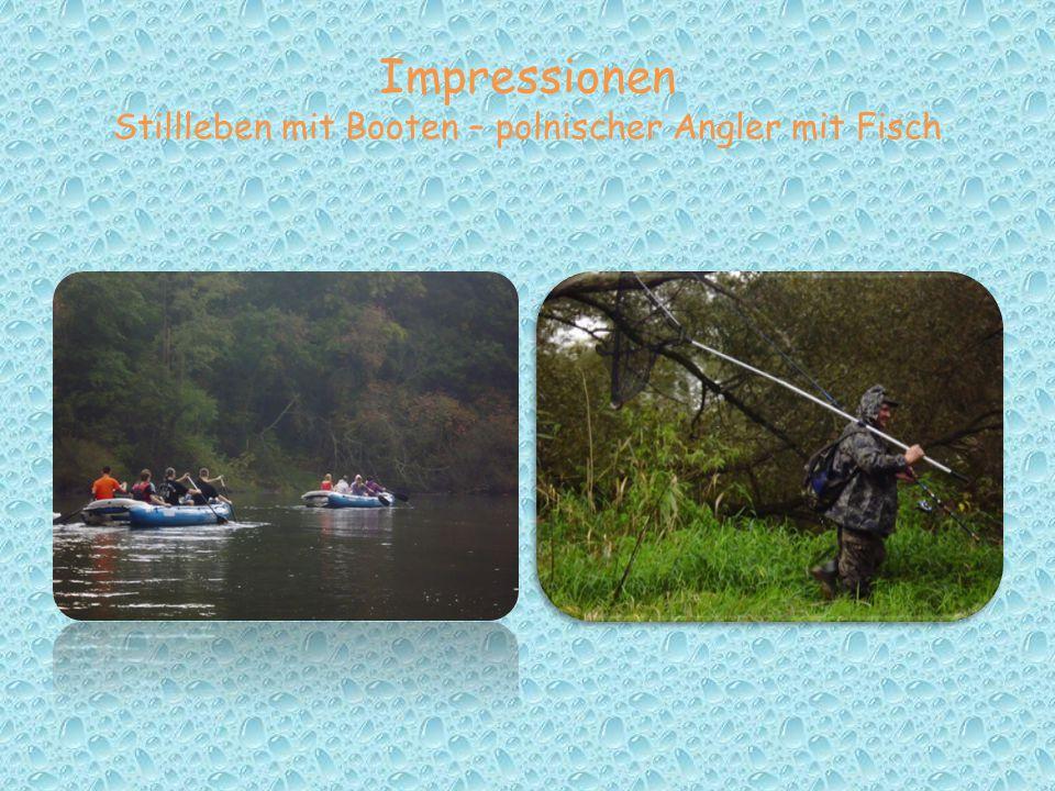 Impressionen Stillleben mit Booten – polnischer Angler mit Fisch