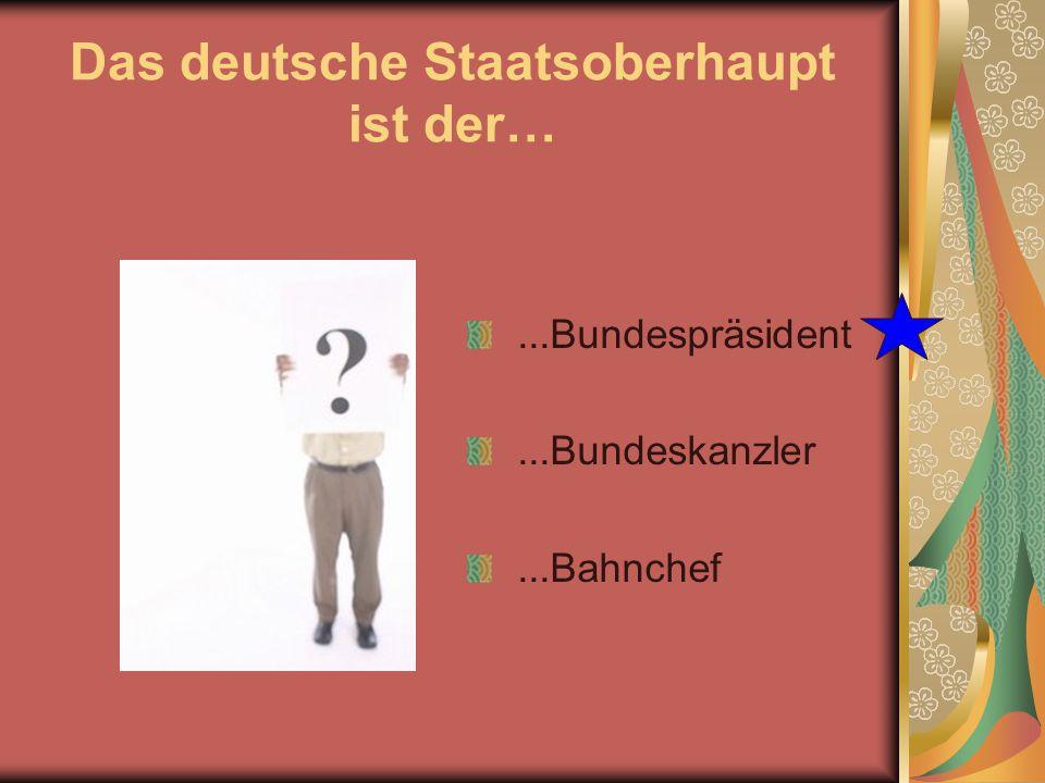 Wer ist zur Zeit Bundespräsident in Deutschland?  Horst Köhler  Angela Merkel  Gerhard Schröder