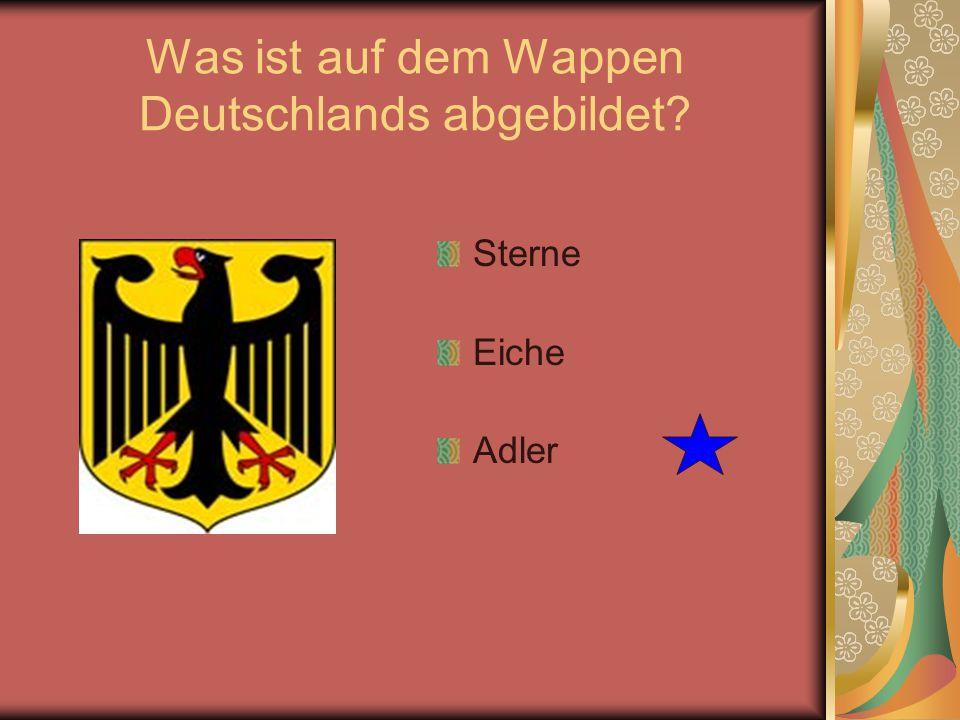 Was ist auf dem Wappen Deutschlands abgebildet? Sterne Eiche Adler