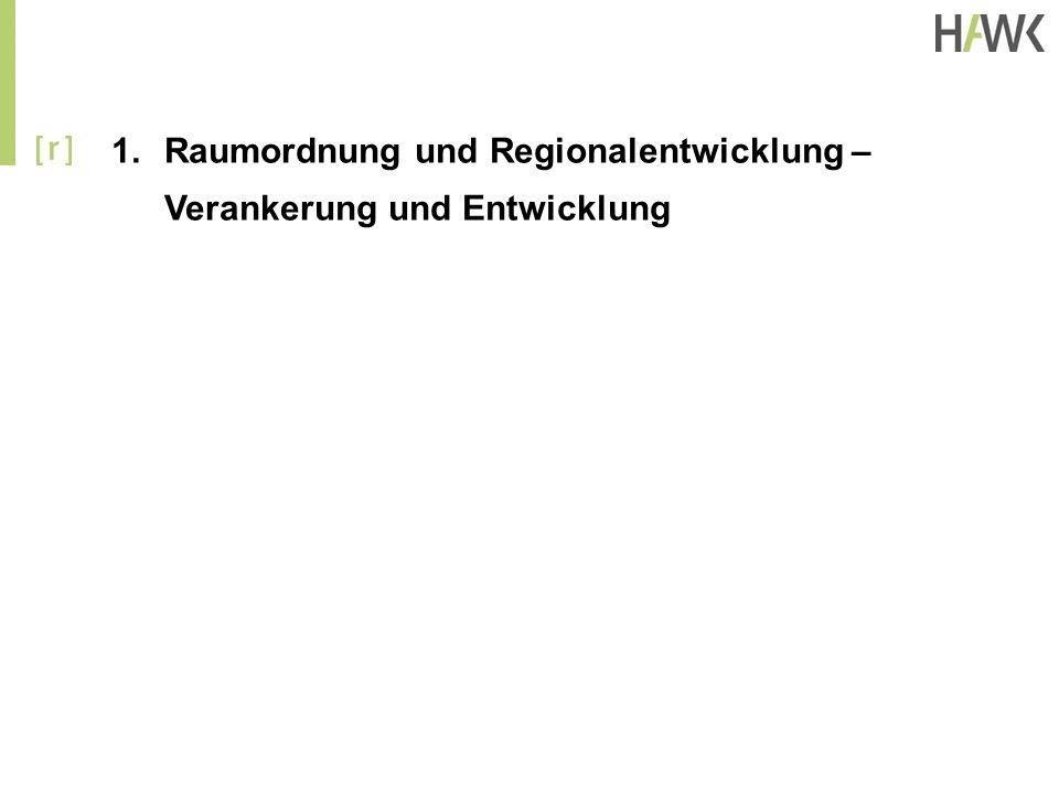 1.Raumordnung und Regionalentwicklung – Verankerung und Entwicklung