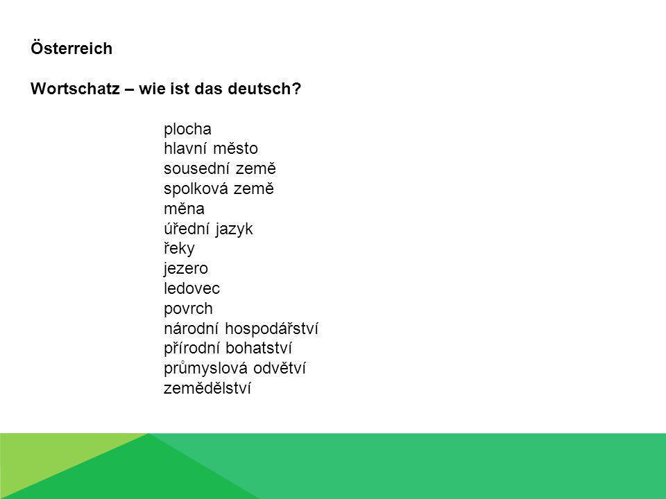 Österreich Wortschatz – wie ist das deutsch.