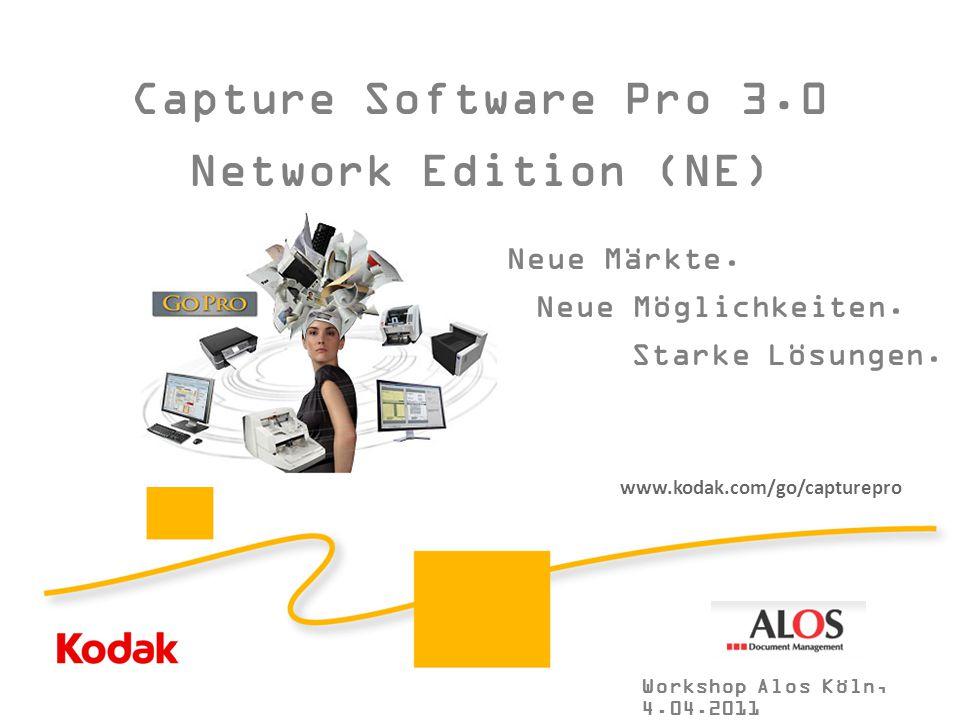 """Kodak Partnertag 2010 """"So viel Gutes auf einem Fleck"""" 5. und 6. Mai 2009 Hotel Elephant, Weimar Capture Software Pro 3.0 Network Edition (NE) Neue Mär"""