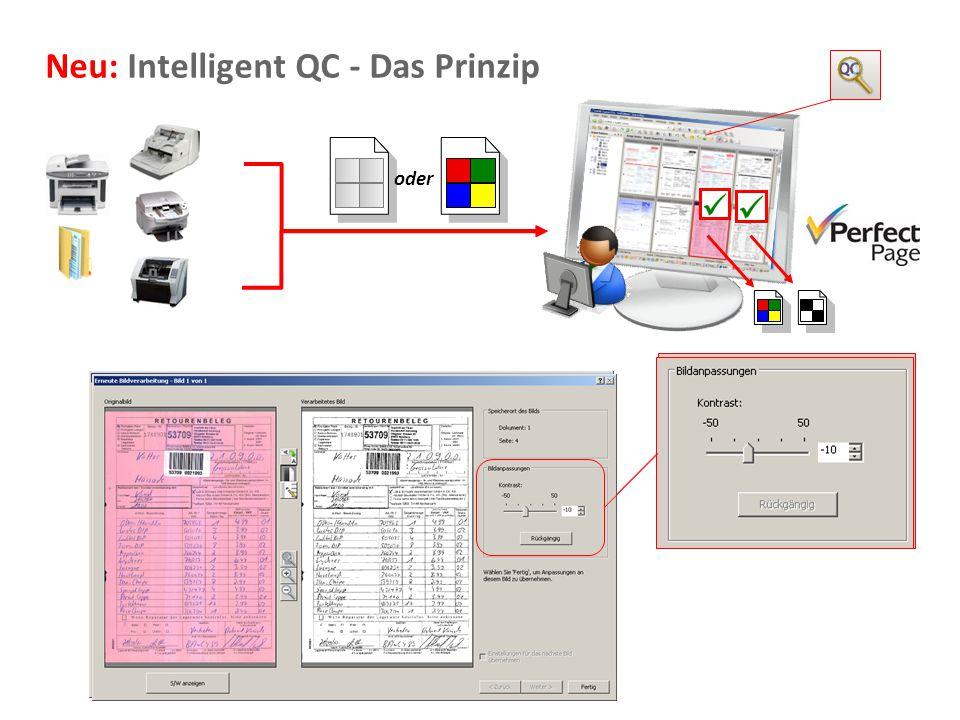 Document Imaging 11 Neu: Intelligent QC - Das Prinzip oder