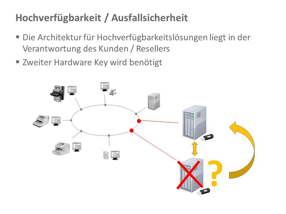 Document Imaging 29 Hochverfügbarkeit / Ausfallsicherheit ?  Die Architektur für Hochverfügbarkeitslösungen liegt in der Verantwortung des Kunden / R