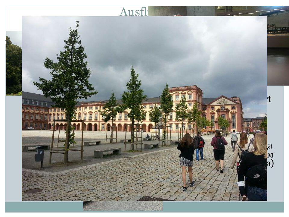 Ausflüge Экскурсии Wir hatten ein interessantes Programm und haben drei Städte besucht – Heidelberg, Mannheim (Universität Mannheim) und Stuttgart (Me