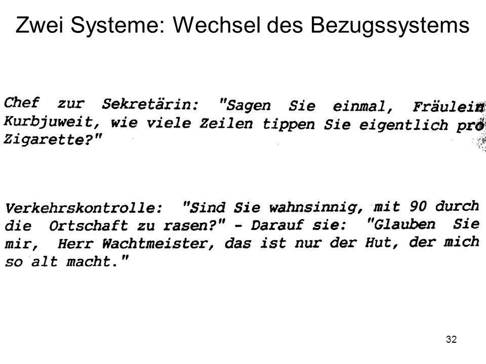 32 Zwei Systeme: Wechsel des Bezugssystems