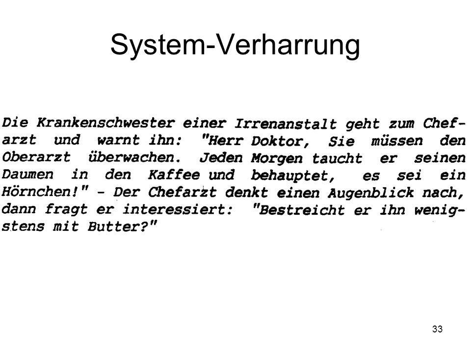 33 System-Verharrung