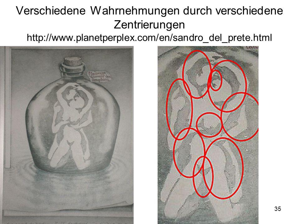 35 Verschiedene Wahrnehmungen durch verschiedene Zentrierungen http://www.planetperplex.com/en/sandro_del_prete.html