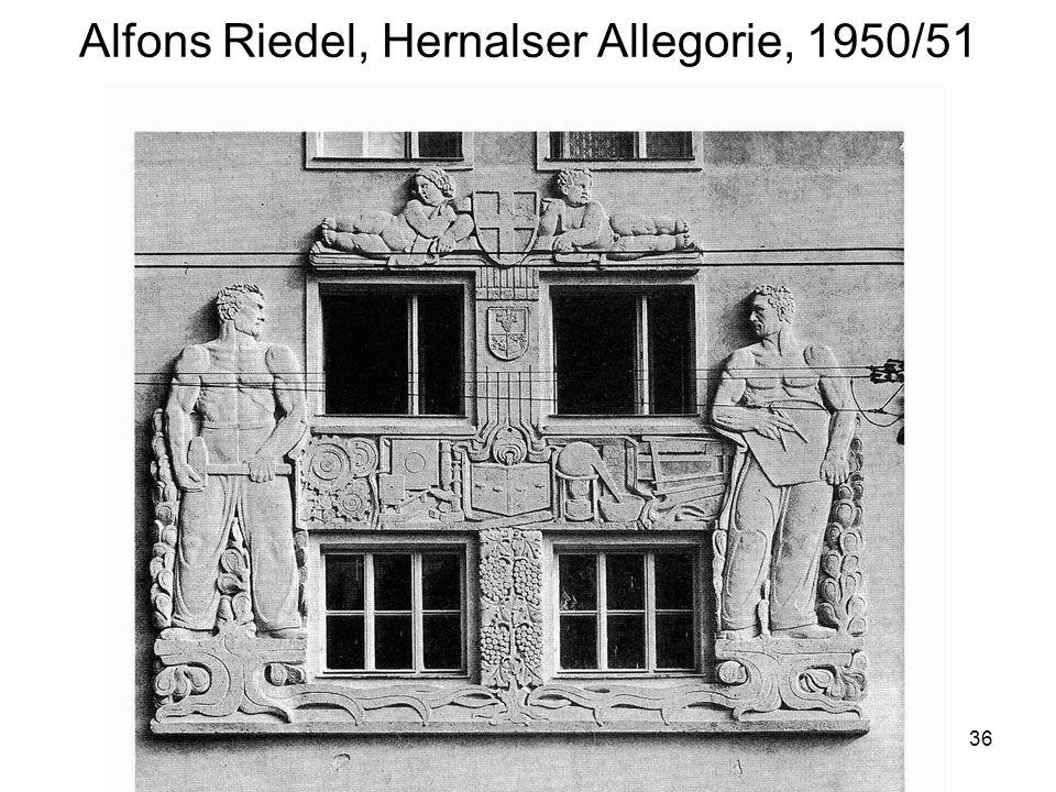 36 Alfons Riedel, Hernalser Allegorie, 1950/51