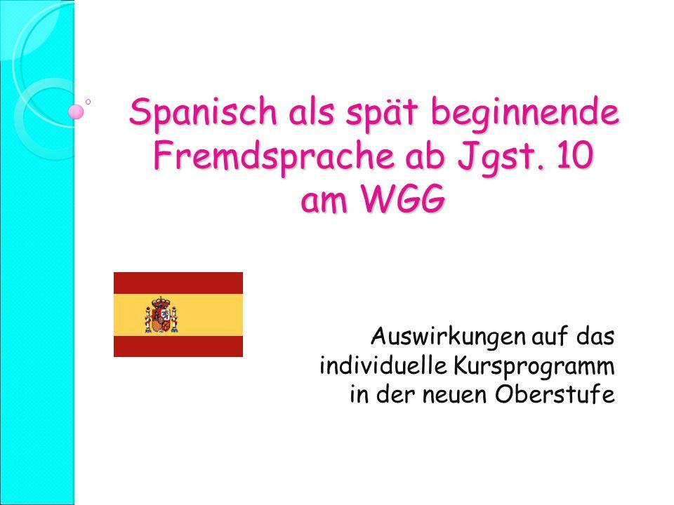 Spanisch als spät beginnende Fremdsprache ab Jgst.