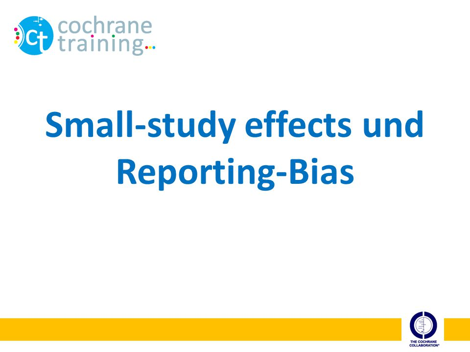 Small-study effects und Reporting-Bias