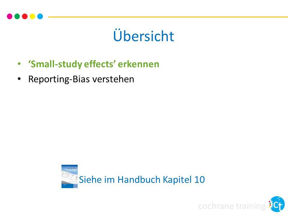 cochrane training Übersicht 'Small-study effects' erkennen Reporting-Bias verstehen Siehe im Handbuch Kapitel 10