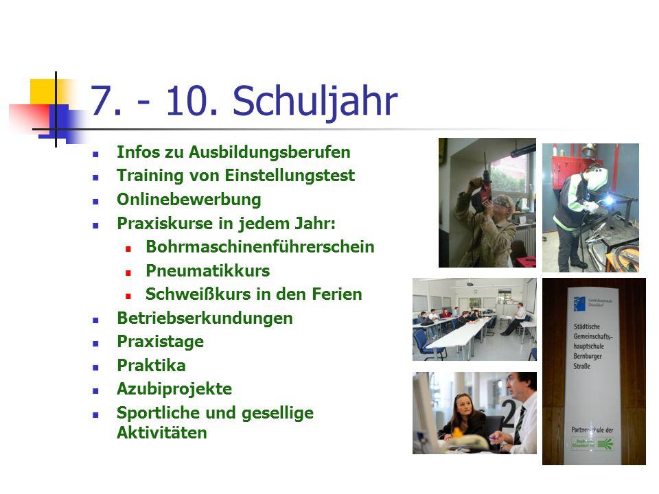 8.Schuljahr – erste INFOs Die 8.