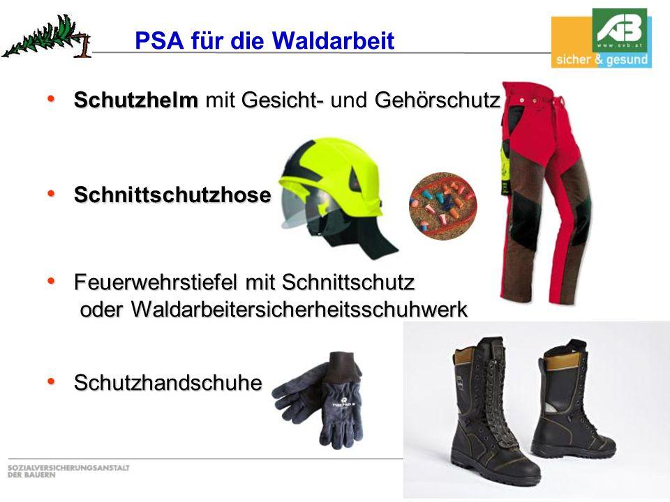 SchutzhelmGesicht- Gehörschutz Schutzhelm mit Gesicht- und Gehörschutz Feuerwehrstiefel mit Schnittschutz Feuerwehrstiefel mit Schnittschutz oder Wald