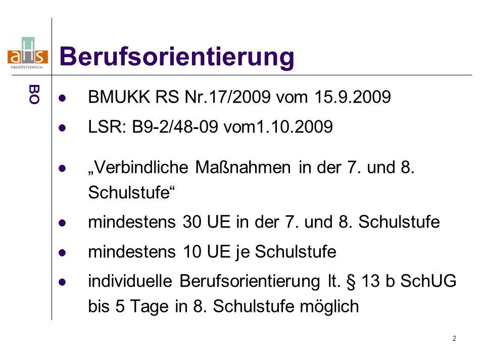 """2 BMUKK RS Nr.17/2009 vom 15.9.2009 LSR: B9-2/48-09 vom1.10.2009 """"Verbindliche Maßnahmen in der 7."""