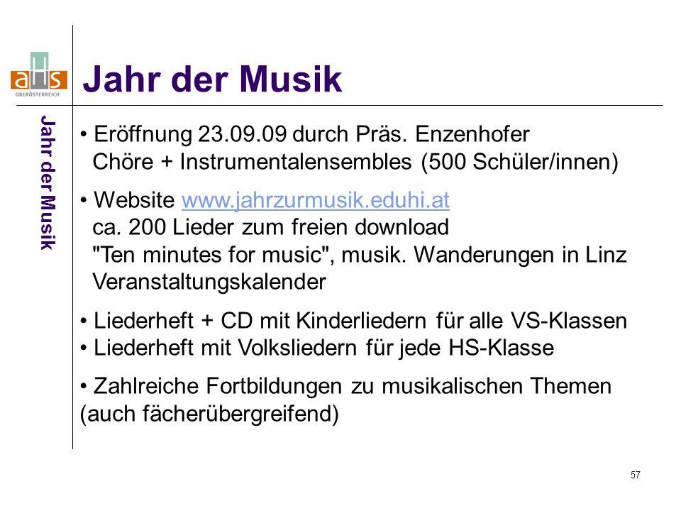 57 Jahr der Musik Eröffnung 23.09.09 durch Präs.