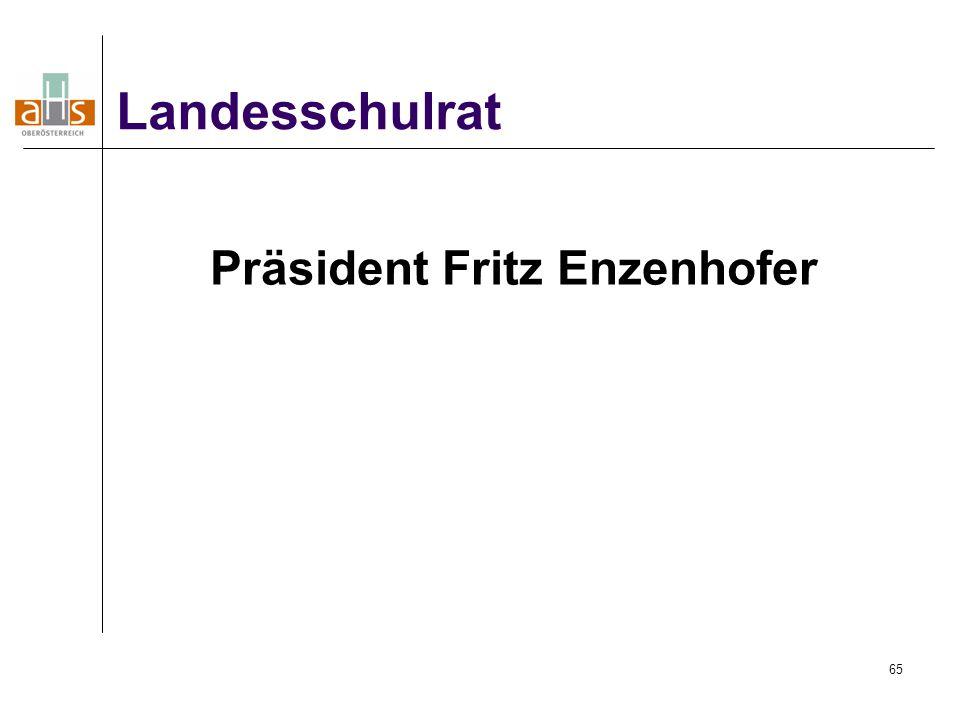 65 Präsident Fritz Enzenhofer Landesschulrat