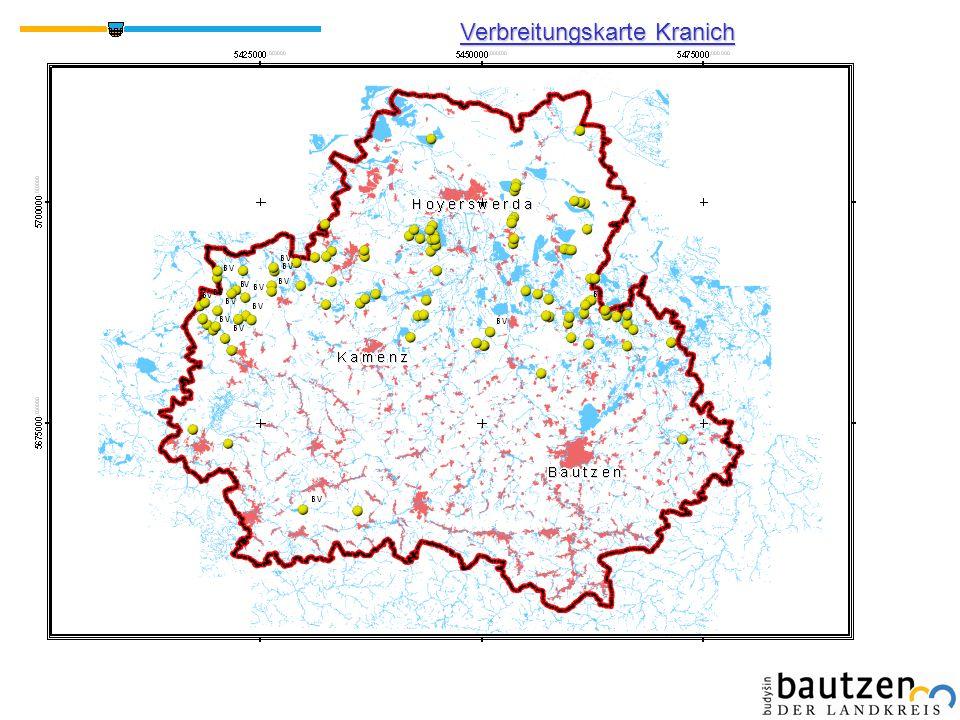 Verbreitungskarte Kranich BV = Brutverdacht
