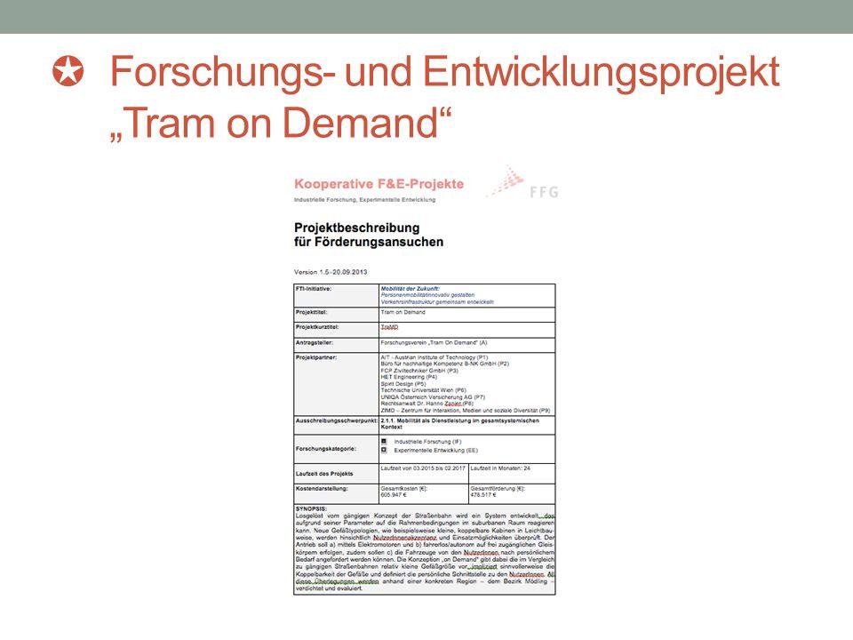"""✪ Forschungs- und Entwicklungsprojekt """"Tram on Demand"""""""