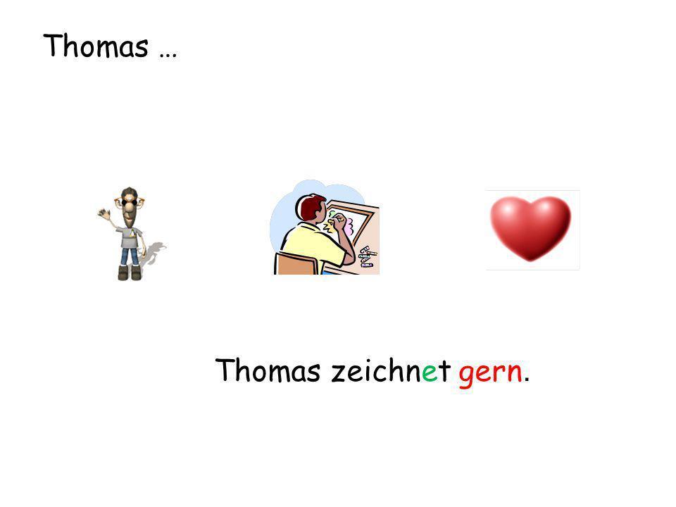 Thomas … Thomas zeichnet gern.