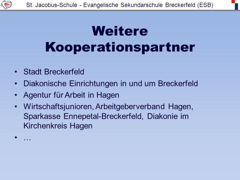 Weitere Kooperationspartner Stadt Breckerfeld Diakonische Einrichtungen in und um Breckerfeld Agentur für Arbeit in Hagen Wirtschaftsjunioren, Arbeitgeberverband Hagen, Sparkasse Ennepetal-Breckerfeld, Diakonie im Kirchenkreis Hagen … St.