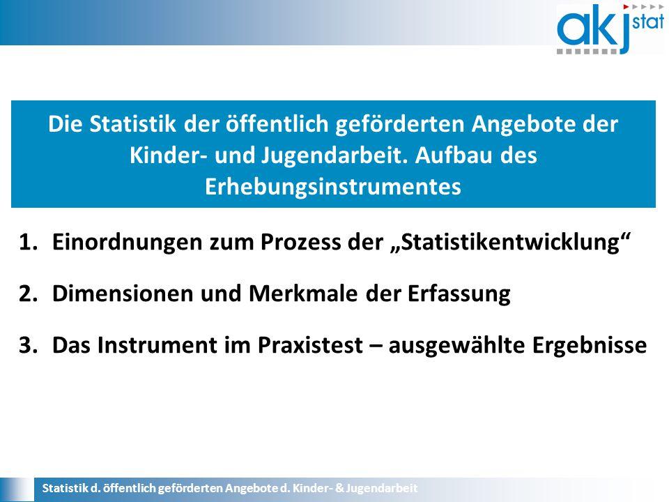 Statistik d.öffentlich geförderten Angebote d. Kinder- & Jugendarbeit 1.