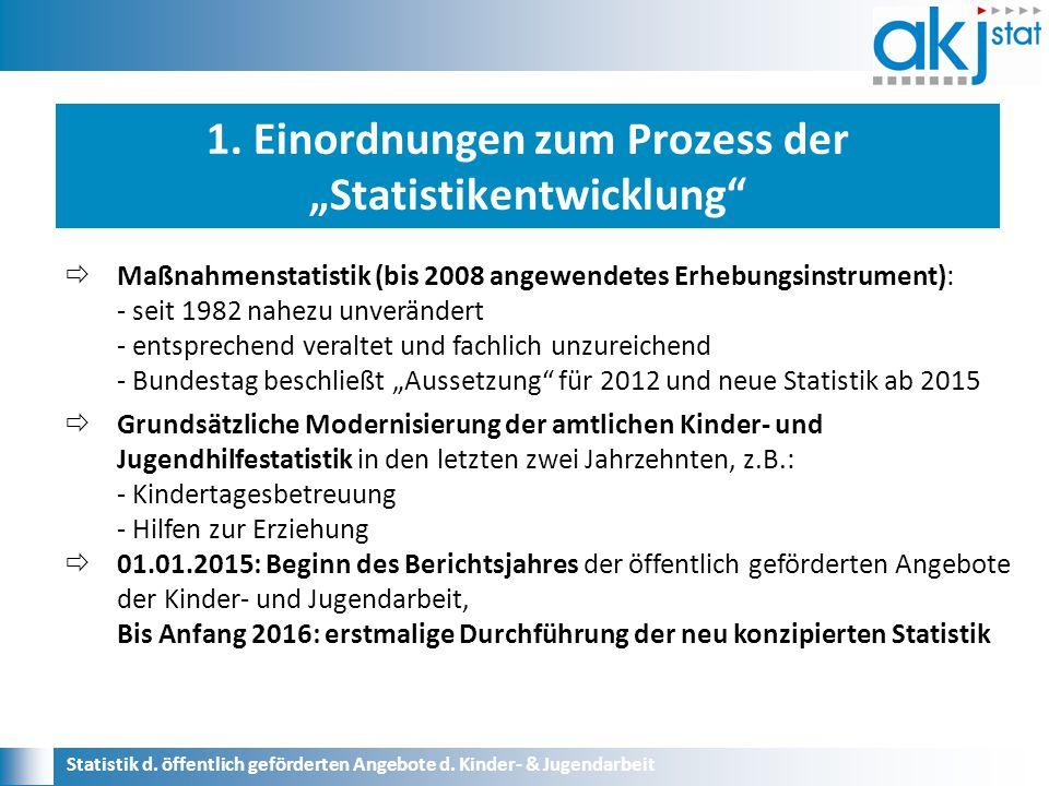 """1. Einordnungen zum Prozess der """"Statistikentwicklung Statistik d."""