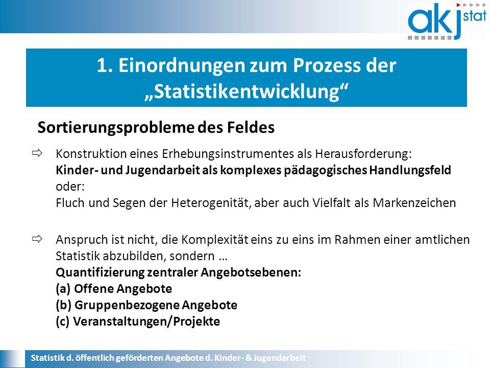 Statistik d.öffentlich geförderten Angebote d. Kinder- & Jugendarbeit 2.