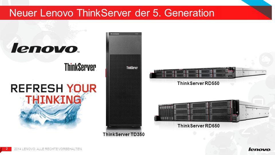 2 2 Neuer Lenovo ThinkServer der 5.