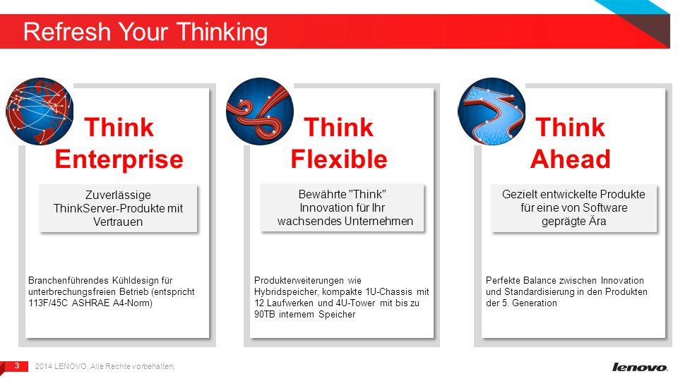3 3 Refresh Your Thinking 2014 LENOVO. Alle Rechte vorbehalten.