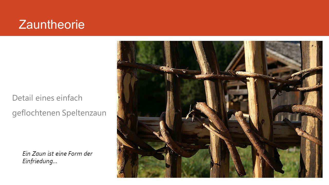 Zauntheorie Holzzaun im alpinen Bereich …Der Liedermacher Stefan Stoppok widmete der Sendung mit der Maus 1996 seinen Song Der kleine Zaun