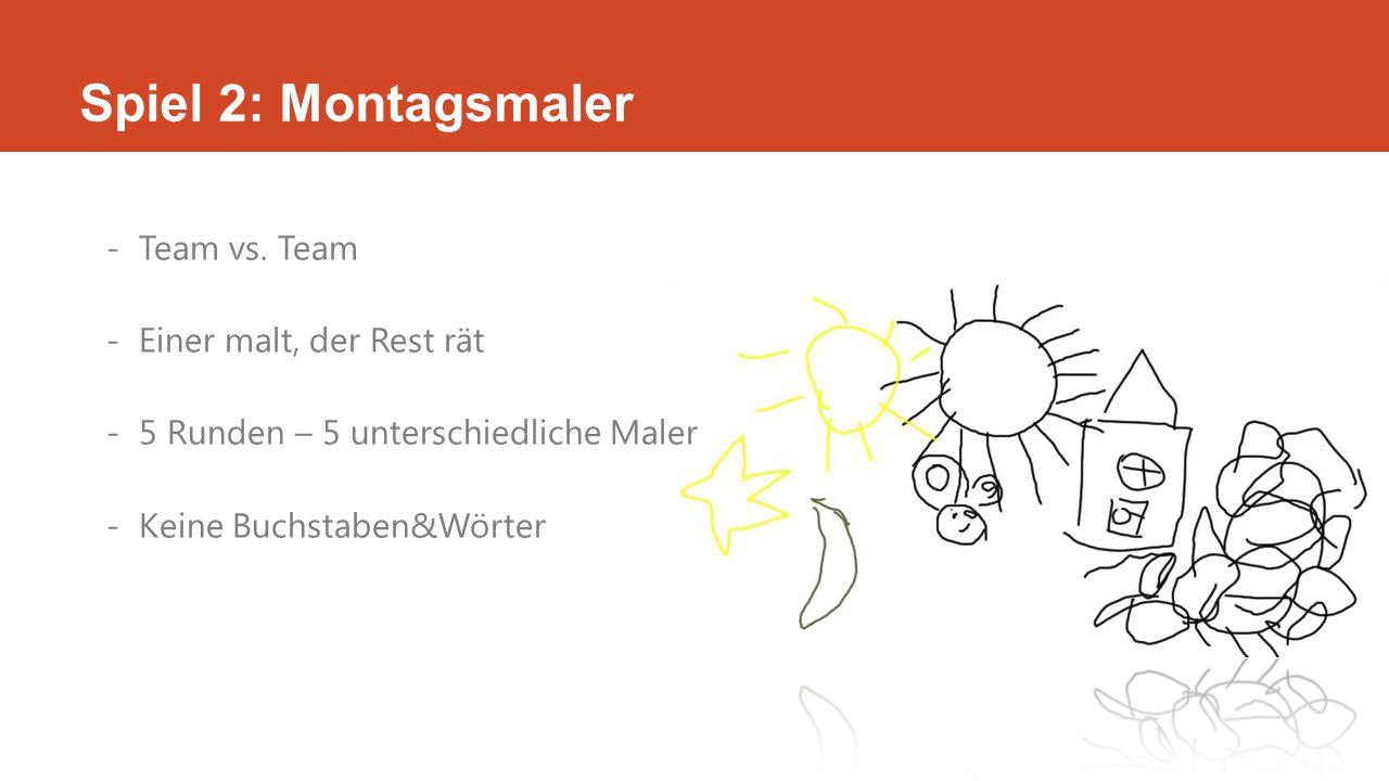 Spiel 2: Montagsmaler -Team vs.