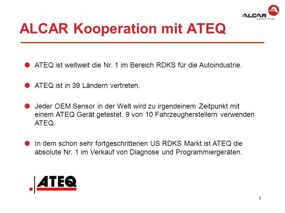 10 Features ATEQ VT56  Programmieren des Alcar T-Pro Sensors.