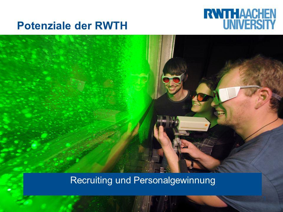 Potenziale der RWTH 1 Recruiting und Personalgewinnung