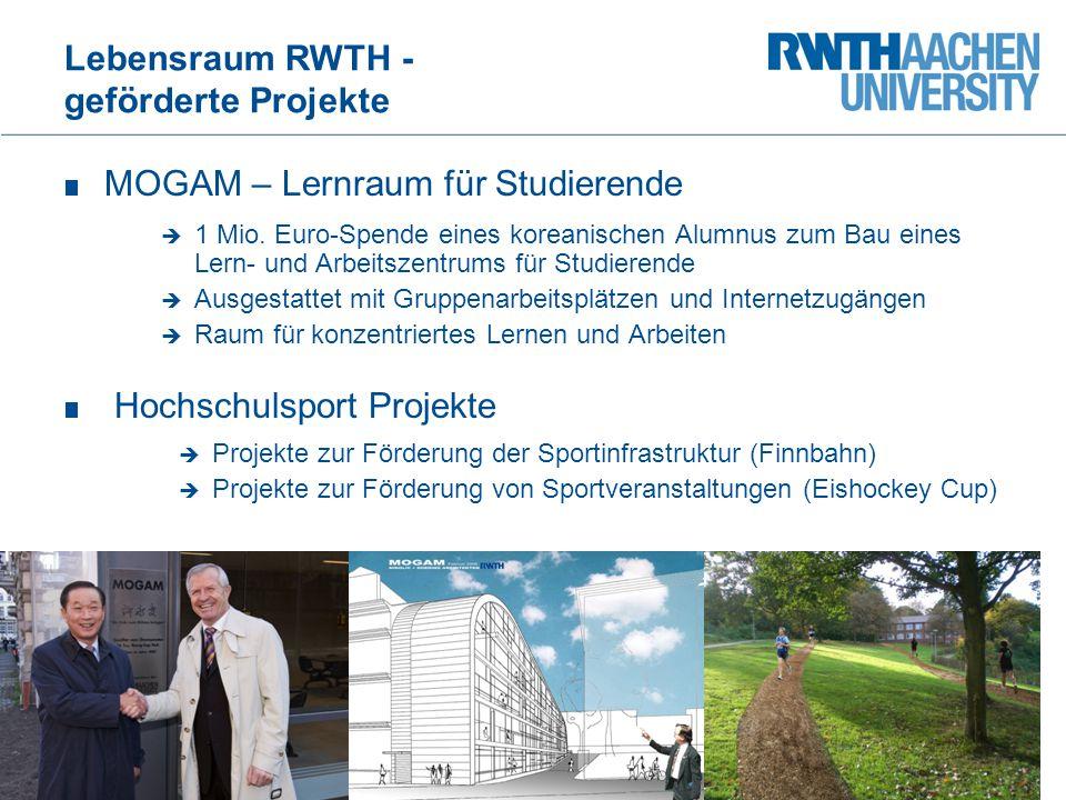 Lebensraum RWTH - geförderte Projekte Ford-Stipendienprogramm Ein Aachener Bürger spendet 300.000 Euro zur Förderung einer Nachwuchswissenschaftlerin