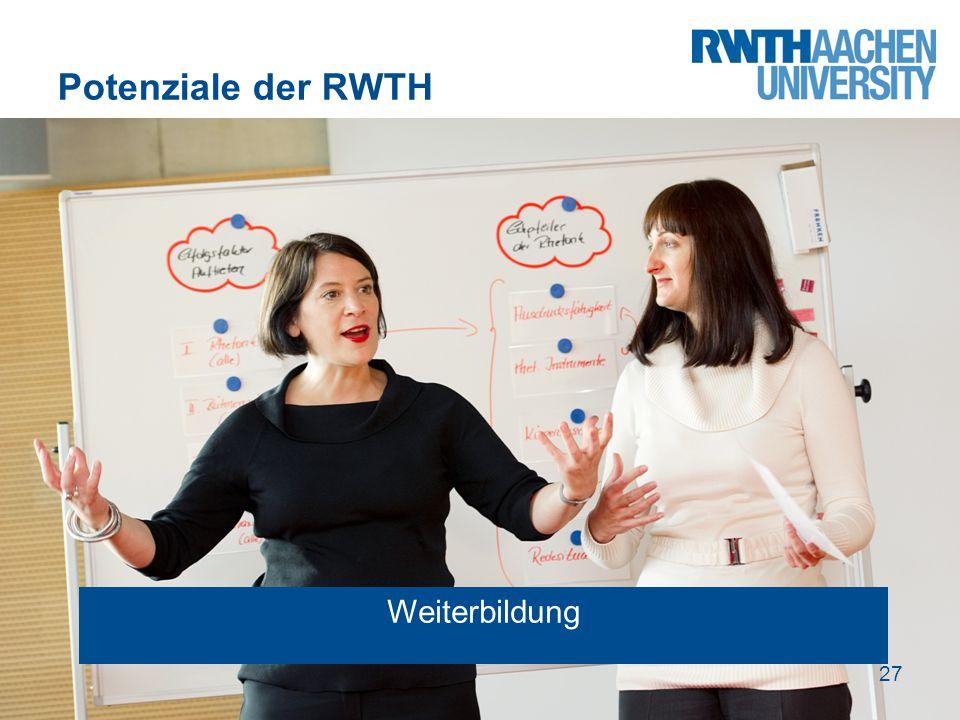 Potenziale der RWTH 27 Weiterbildung