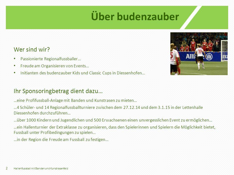 Wer sind wir? Passionierte Regionalfussballer… Freude am Organisieren von Events… Initianten des budenzauber Kids und Classic Cups in Diessenhofen… Ih