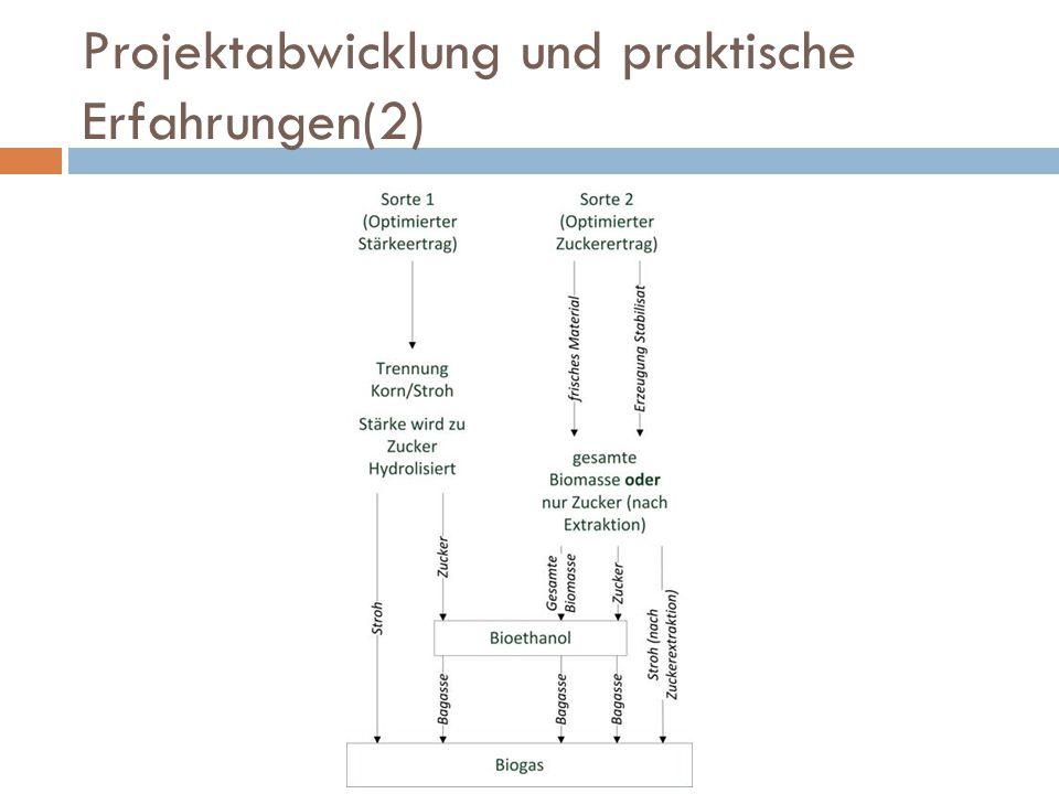 Projektabwicklung und praktische Erfahrungen(2)