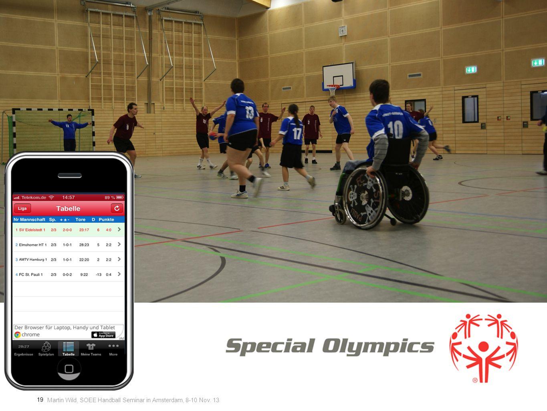 Martin Wild, SOEE Handball Seminar in Amsterdam, 8-10 Nov. 13 19