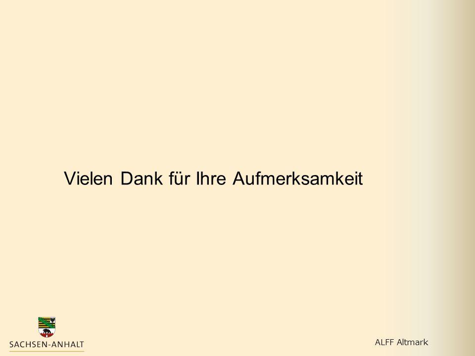 Vielen Dank für Ihre Aufmerksamkeit ALFF Altmark