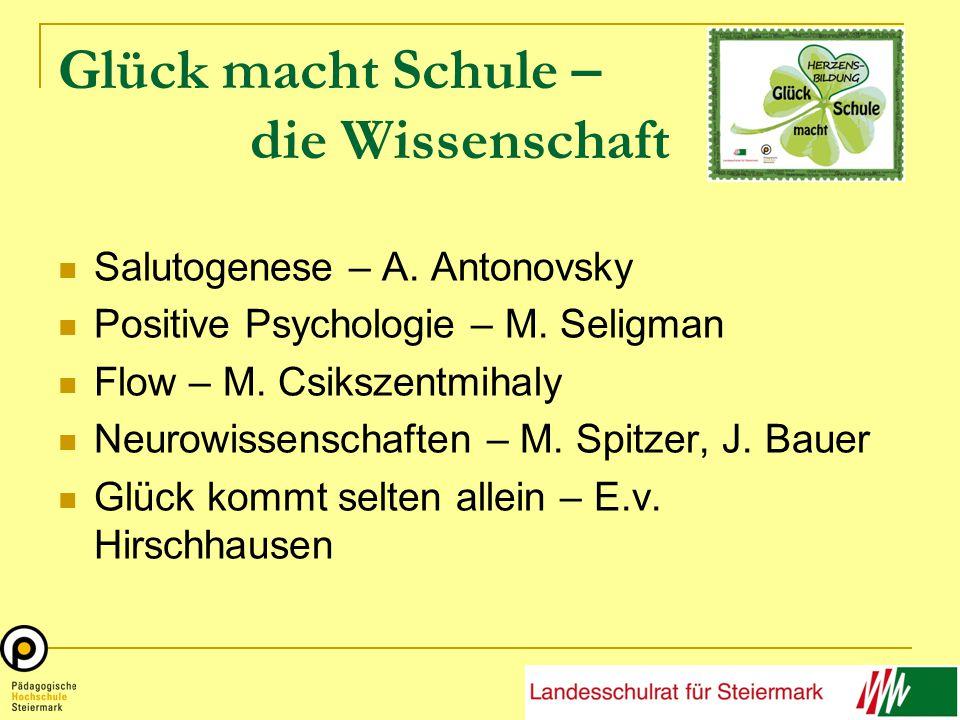 Glück macht Schule – die Wissenschaft Salutogenese – A.