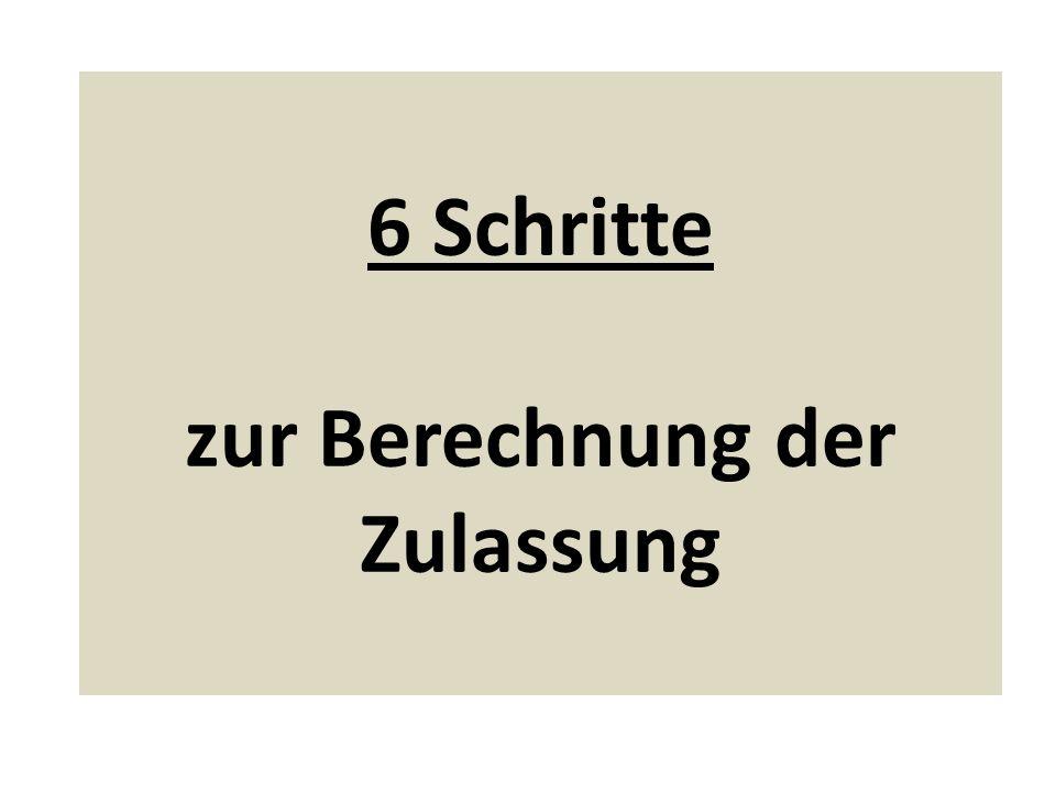 1.Schritt Vier Voraussetzungen werden geprüft: 1.