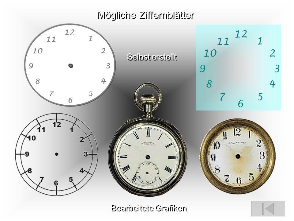 Uhr mit PPT Zunächst erstelle man sich eine Uhr nach eigenen Geschmack. Step 1 Diese kann man dann auf dem Master platzieren und gestalten. Step 2 Dan