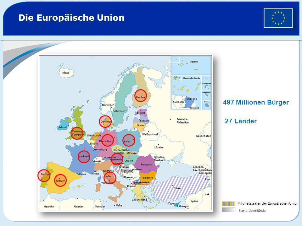 Die Symbole der Europäischen Union Die Europäische FlaggeDie Europäische Hymne Der Europatag (am 9.