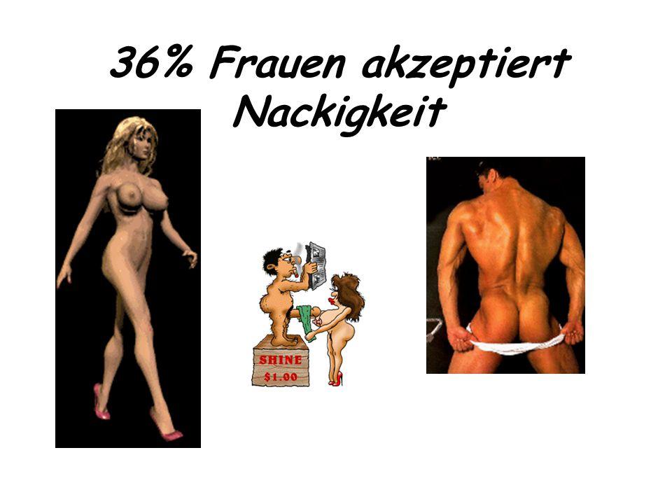 36% Frauen akzeptiert Nackigkeit