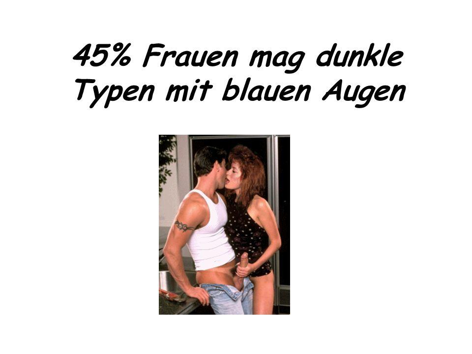 45% Frauen mag dunkle Typen mit blauen Augen